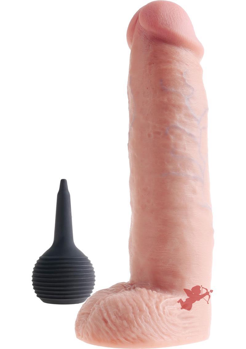 King Cock 10 Squirtin Cock/balls Flesh