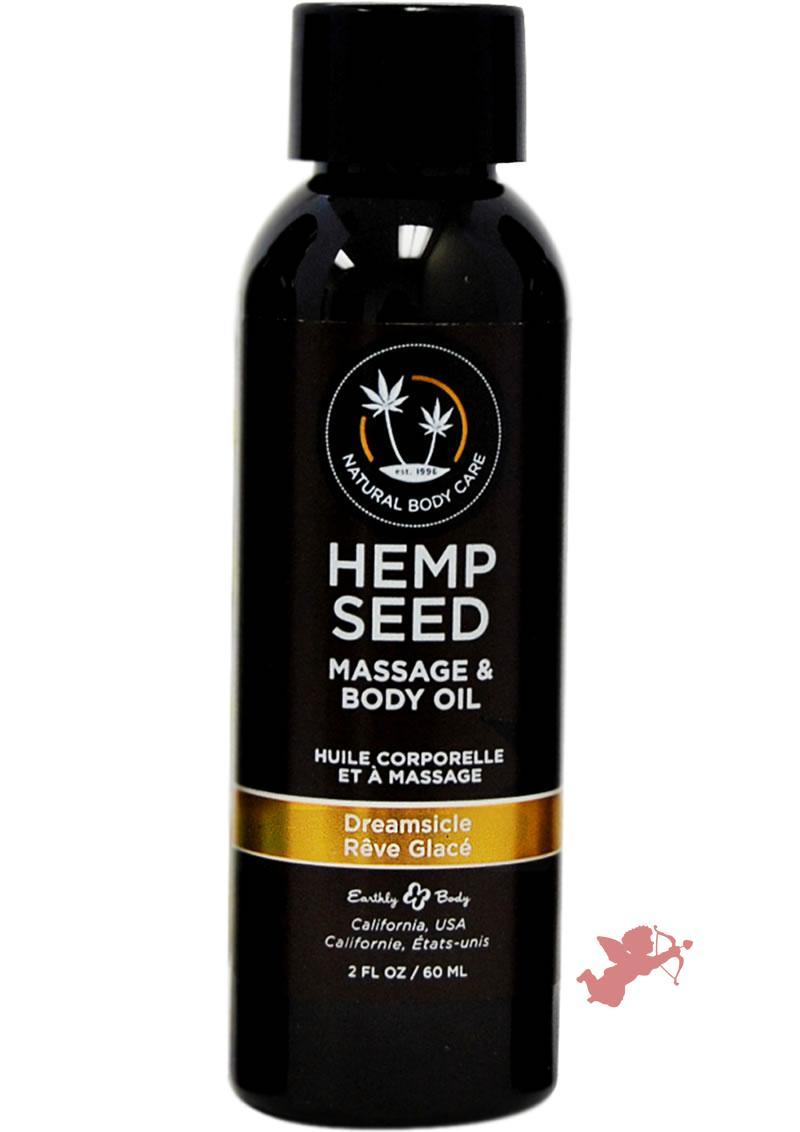 Hemp Seed Massage Oil Dreamsicle 2oz