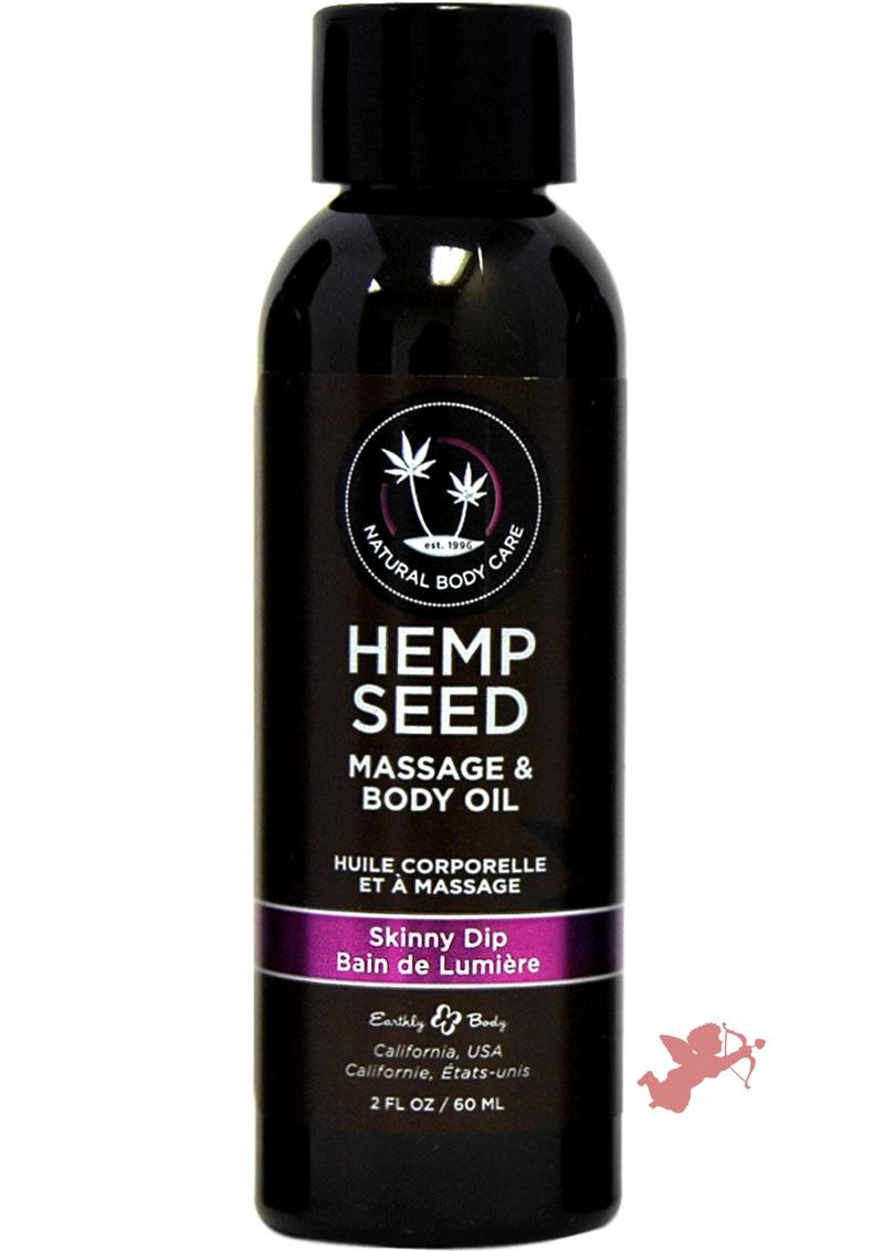 Hemp Seed Massage and Body Oil Skinny Dip 2 Ounce