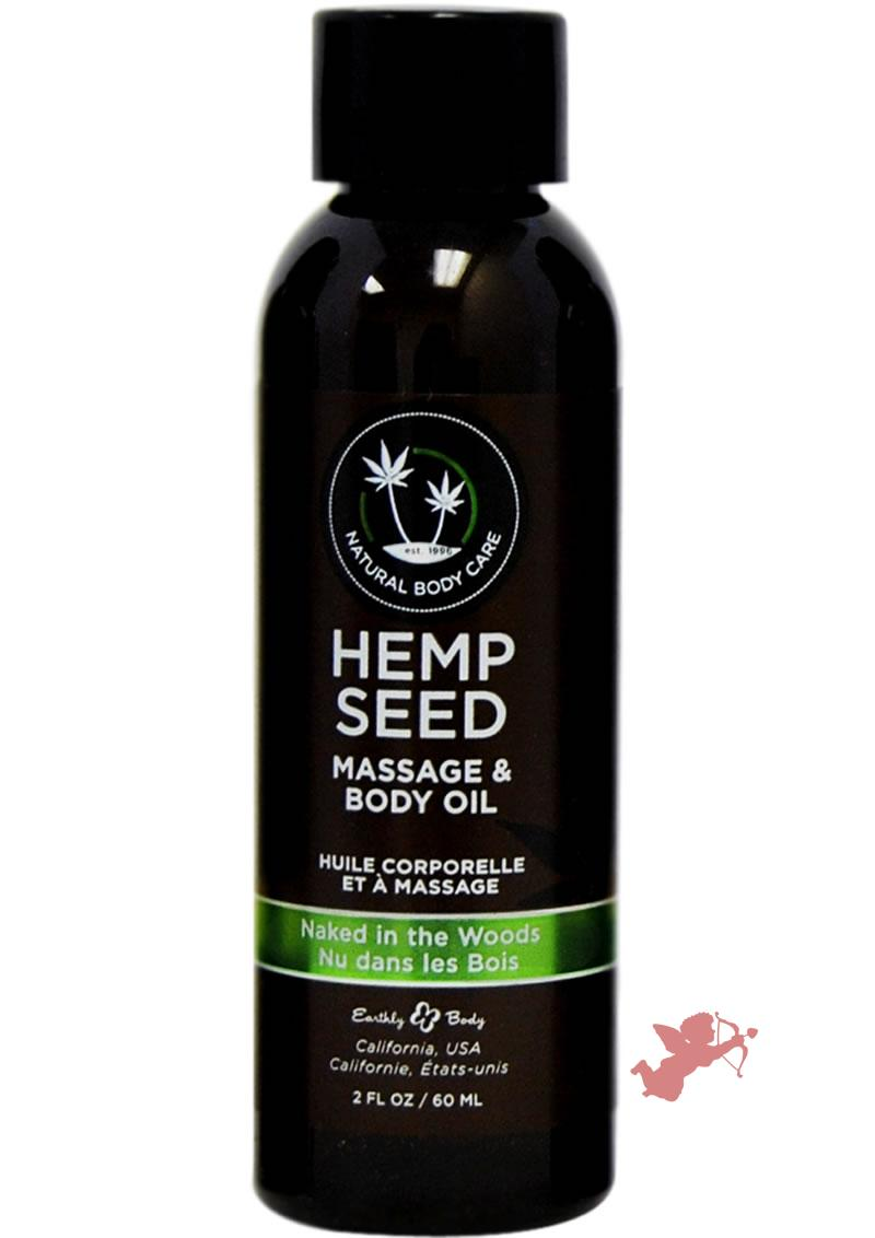 Hemp Seed Massage Oil Naked In The Woods 2oz