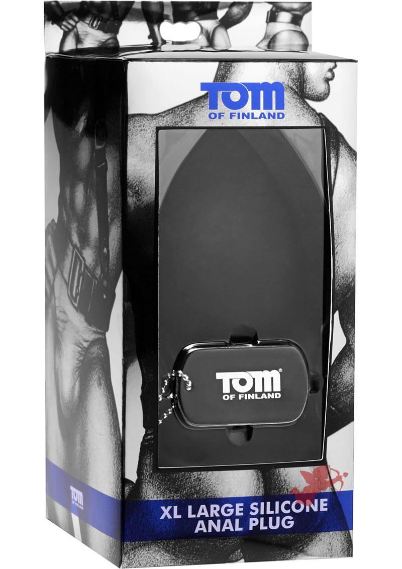 Tom Of Finland XL Silicone Anal Plug Black 5.5 Inch