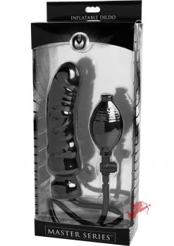 Master Series Renegade Inflatable Dildo Black 7.5 Inch
