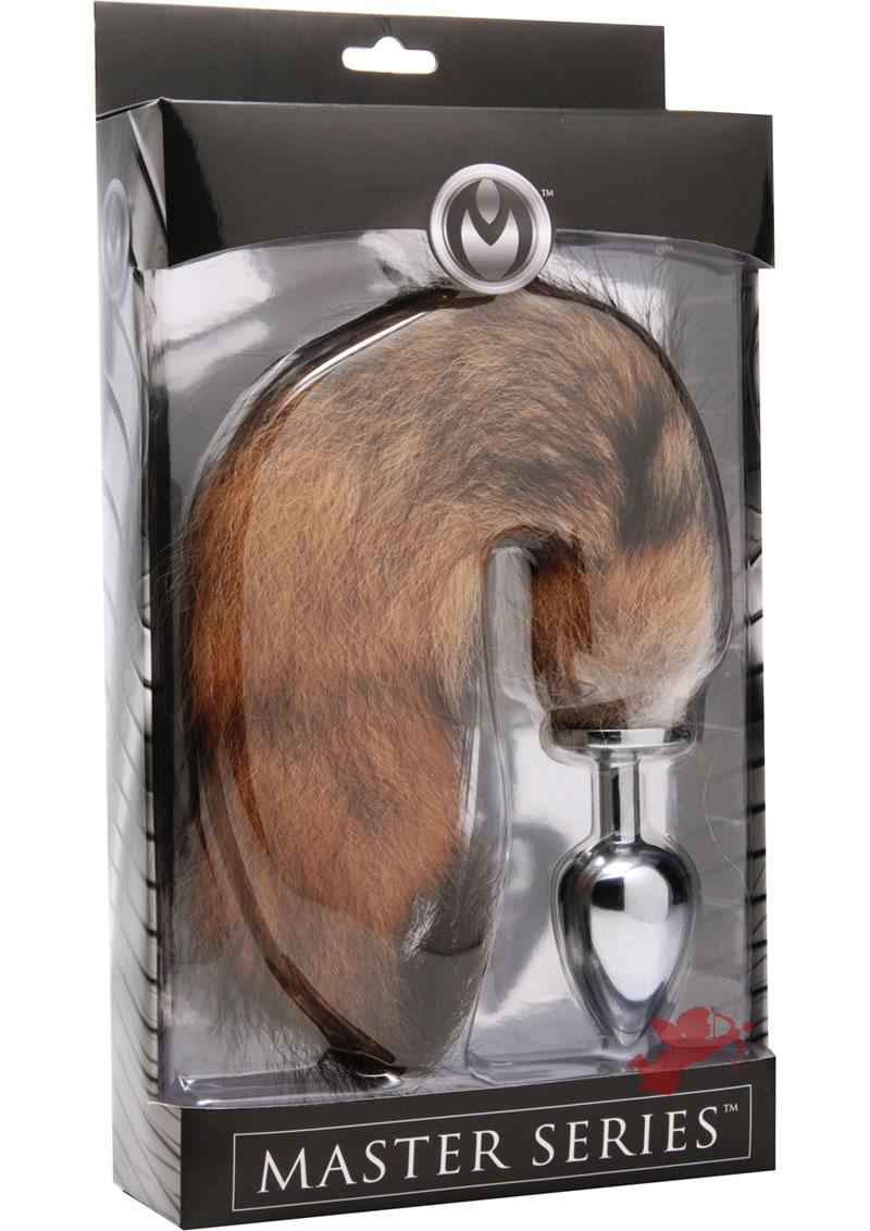 Master Series Untamed XL Fox Tail Stainless Steel Anal Plug 3.65 Inch