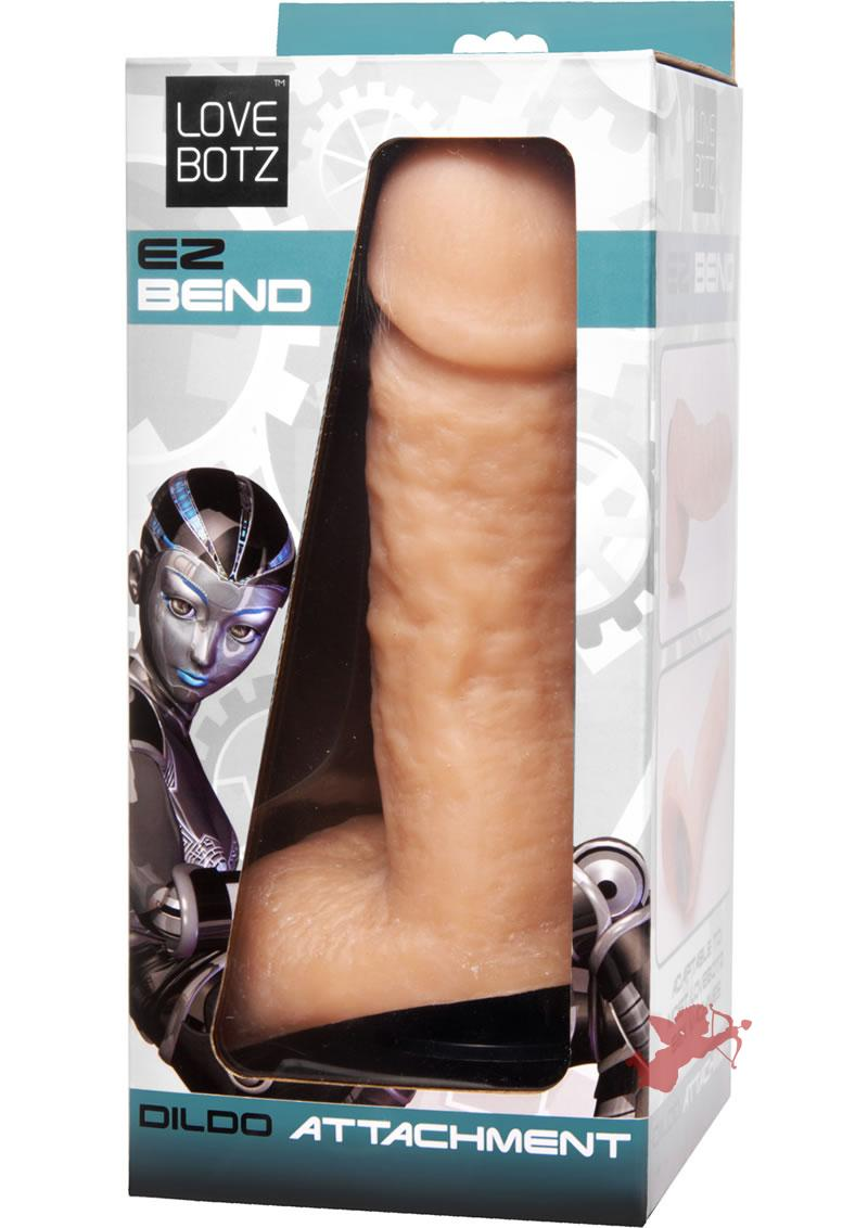 Love Botz EZ Bend Dildo Attachment Flesh 7.5 Inch