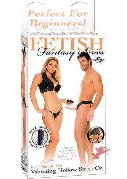 Fetish Fantasy Vibrating Hollow Strap On Flesh