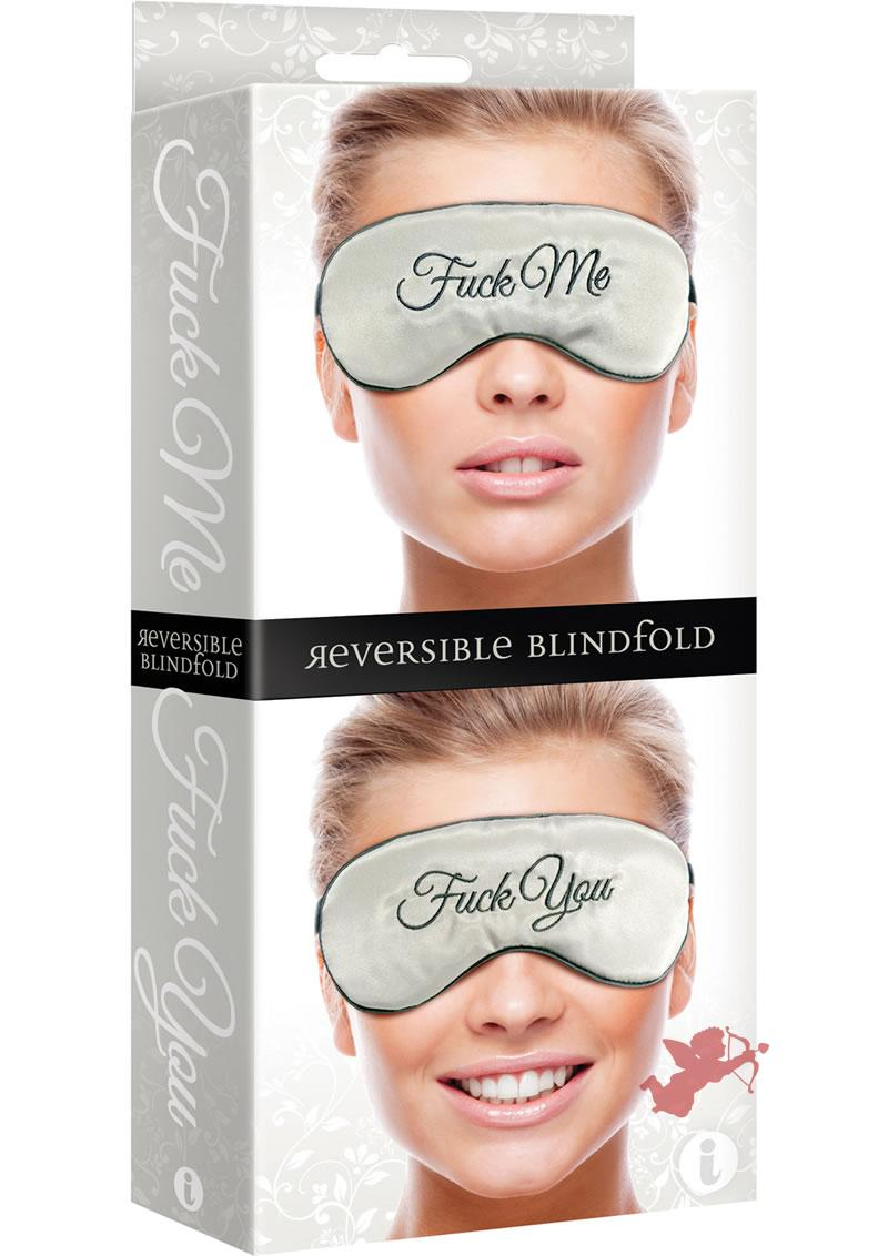 Fuck Me Fuck You Reversible Silk Blindfold