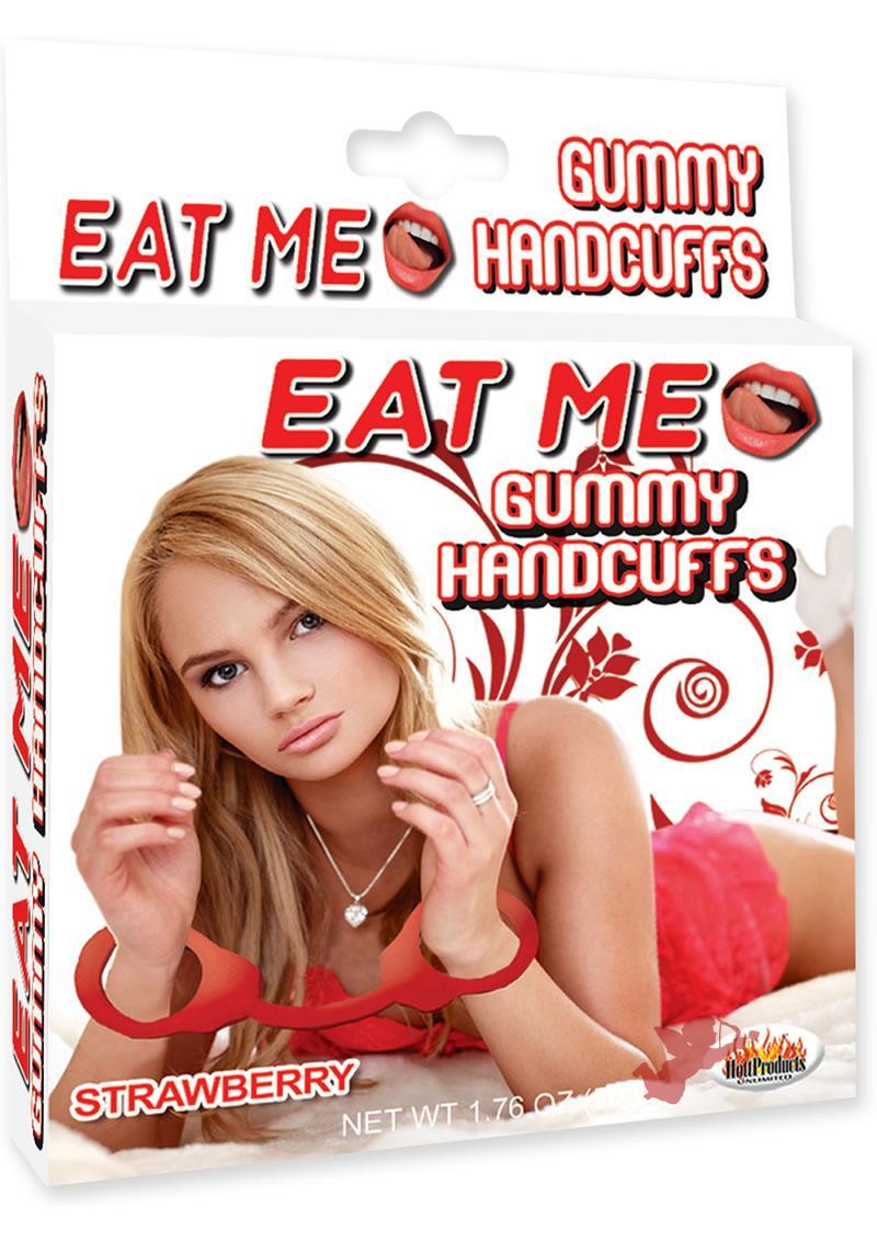 Eat Me Gummy Hand Cuffs Strawberry
