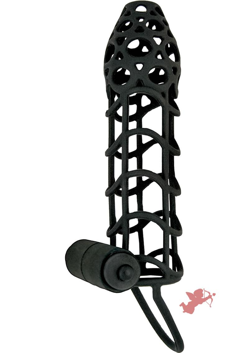 Mack Tuff Vibrating Cockcage Black