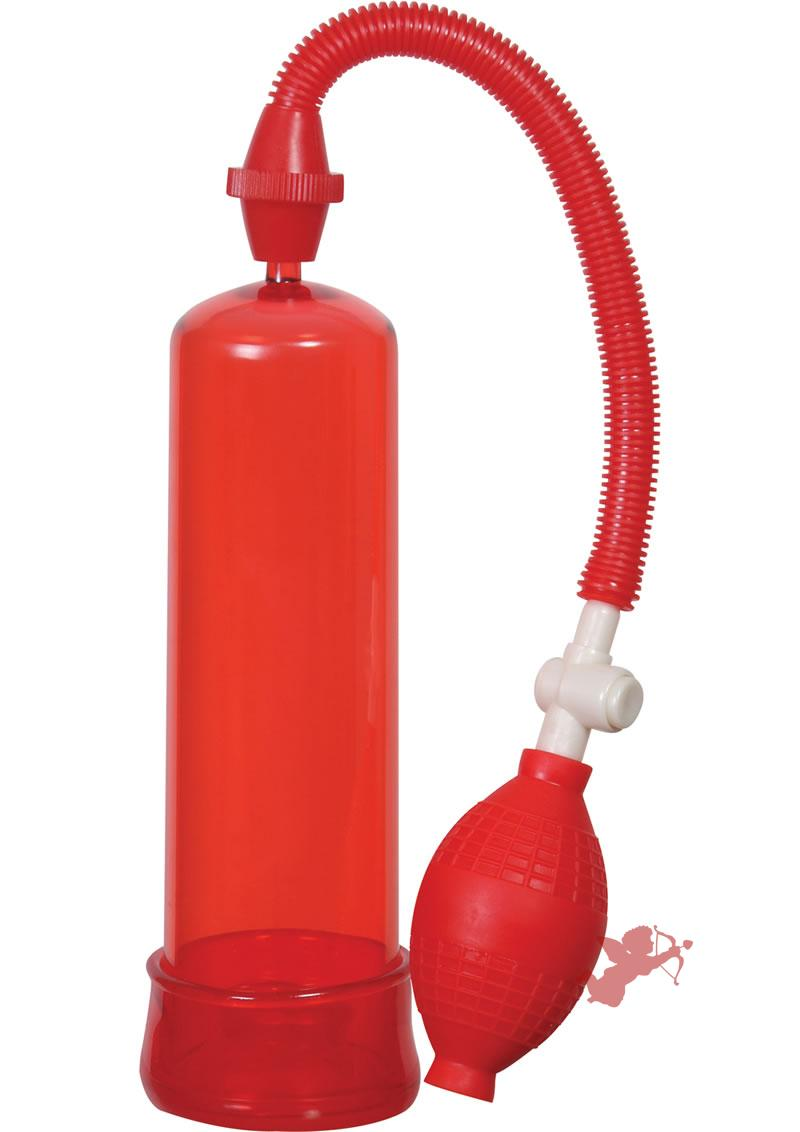 Linx Pumped Up Fire Penis Pump Red 7.75 Inches