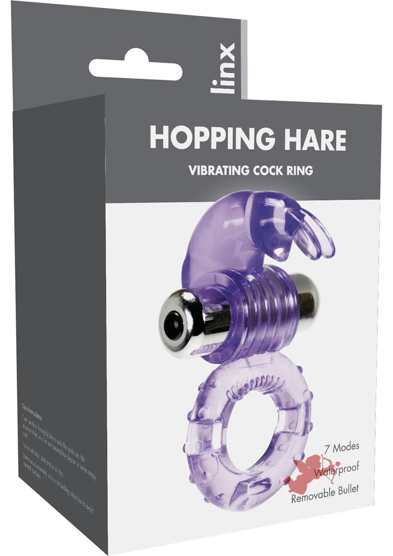 Linx Rabbit Vibrating Cock Ring Waterproof Purple