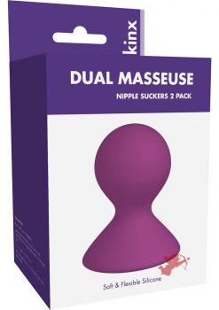 Kinx Dual Masseuse Silicone Nipple Suckers Purple