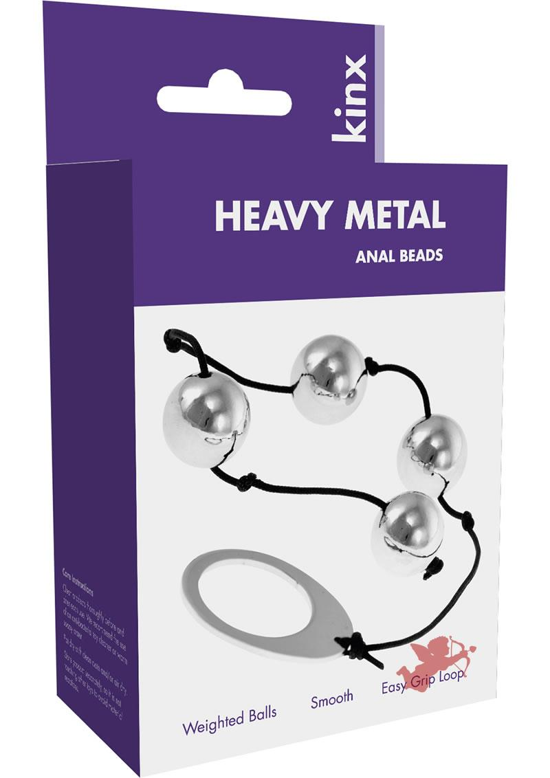Kinx Heavy Metal Anal Beads 9 Inch