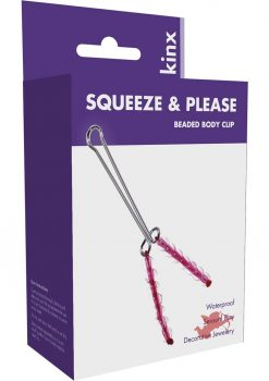Minx Squeeze and Please Beaded Body Clip Pink
