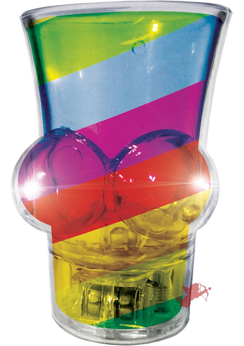 Light Up Rainbow Boobie Shot Glass