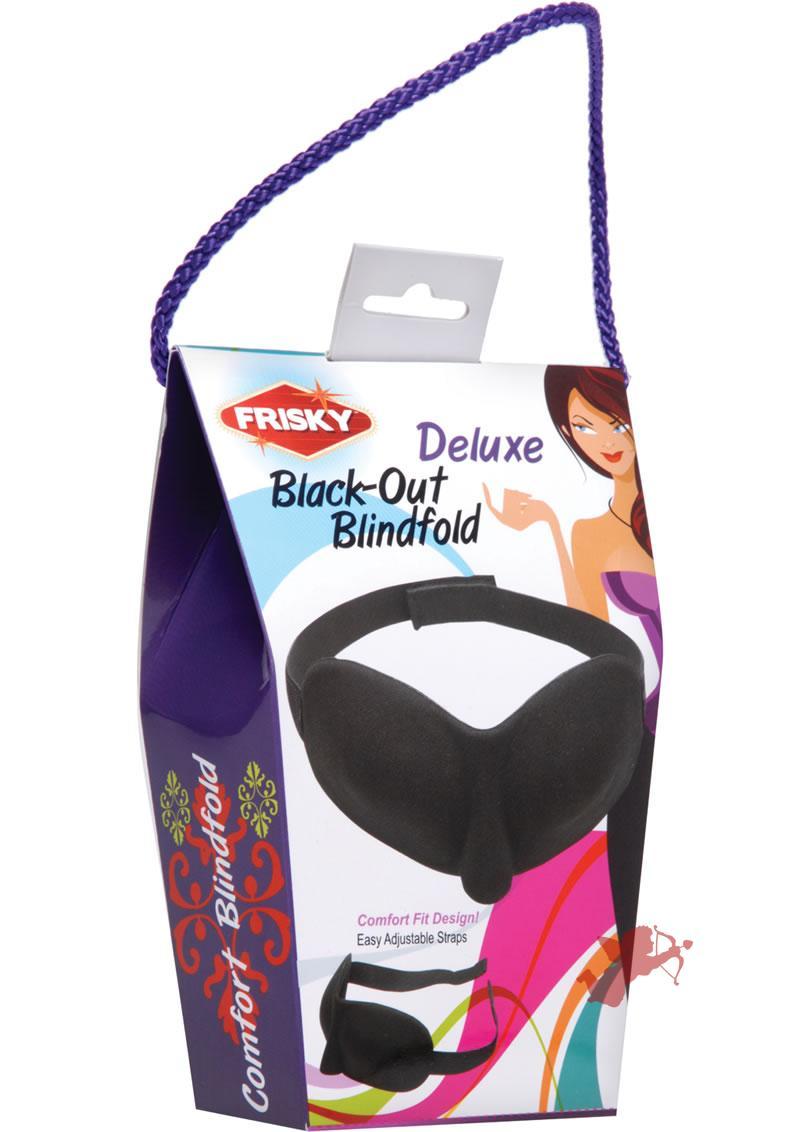 Frisky Deluxe Black-out Blindfold Black