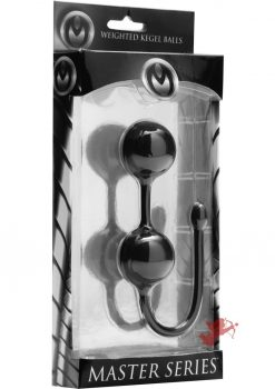 Master Series Exerceo Silicone Weighted Kegel Balls Black