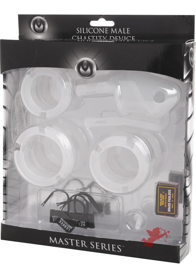 Master Series Sado Chamber Silicone Chastity Cage 4.35 Inch