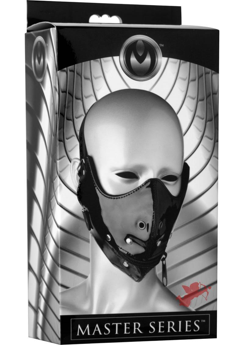 Master Series Lektor Zipper Mouth Muzzle Black