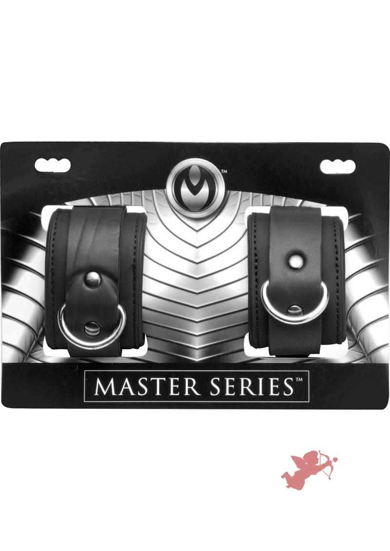 Master Series Neoprene Buckle Cuffs Black