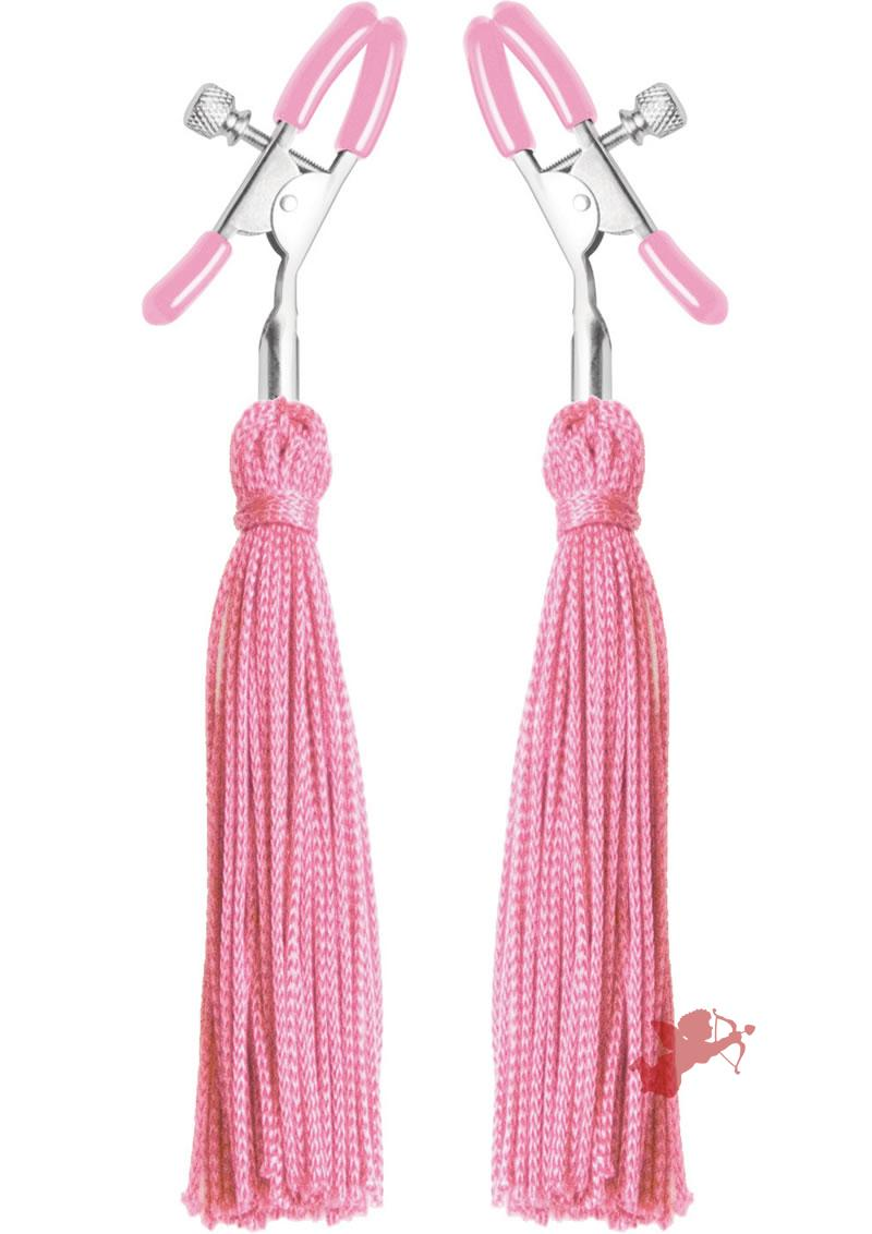 Frisky Tickle Me Pink Nipple Clamp Tassle