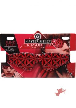 Master Series Crimson Tied Blackout Blindfold Red
