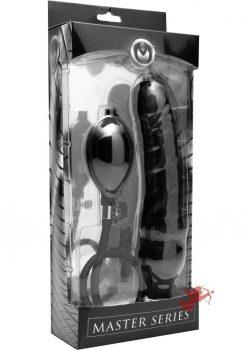 Master Series Primal Inflatable Dildo Black