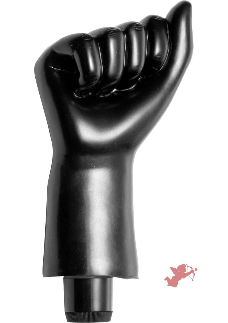 Master Series Mister Fister Vibrating Fist Black 8 Inch
