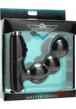 Master Series Hero Silicone Vibrating Prostate Explorer Black
