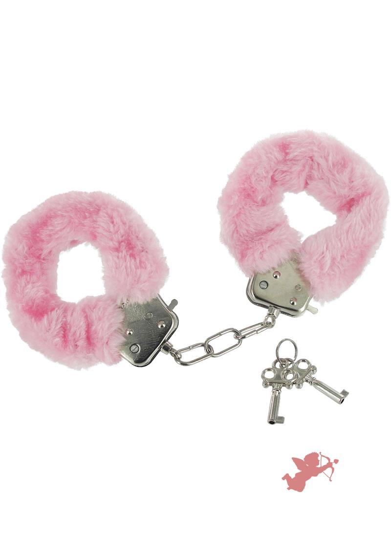 Pink Fur Handcuffs Caught In Candy