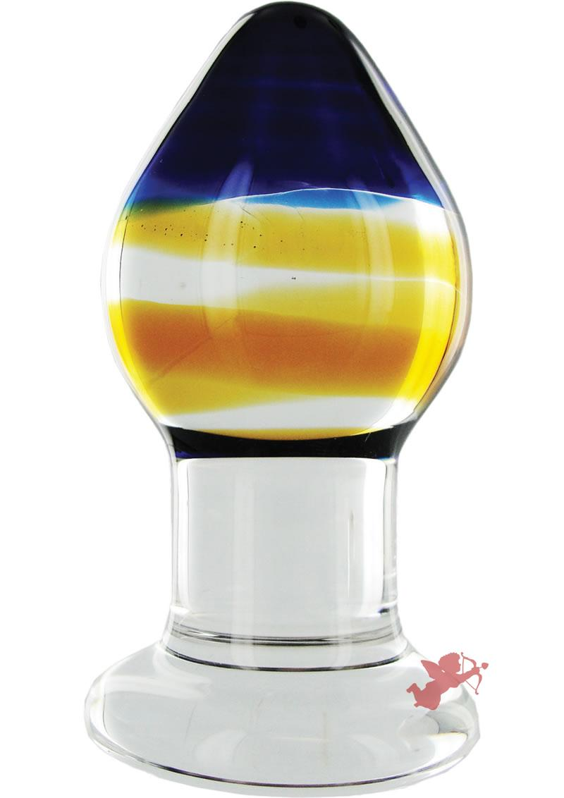 Prisims Pranava Glass Derrière Plug Multi Color