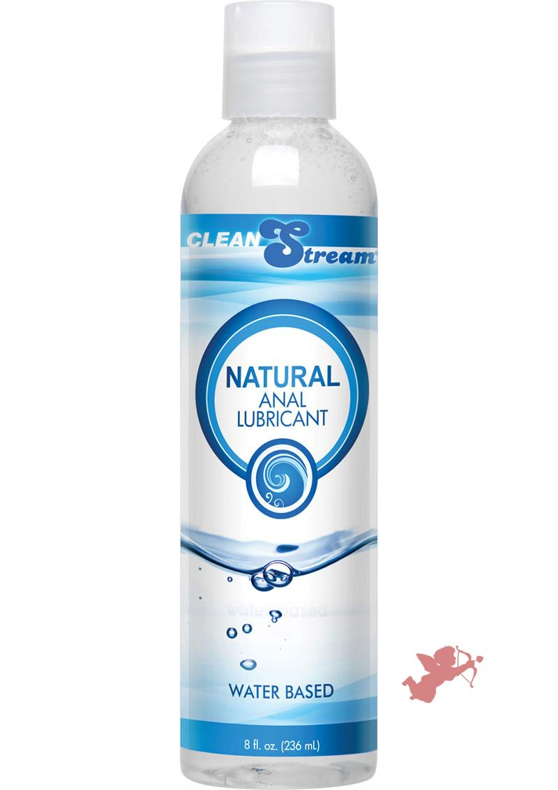 Clean Stream All Natural Water Based Anal Lube 8 Oz