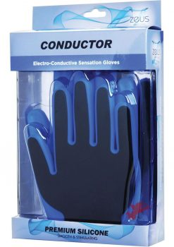 Zeus Conductor Silicone Electro Stim Gloves Blue