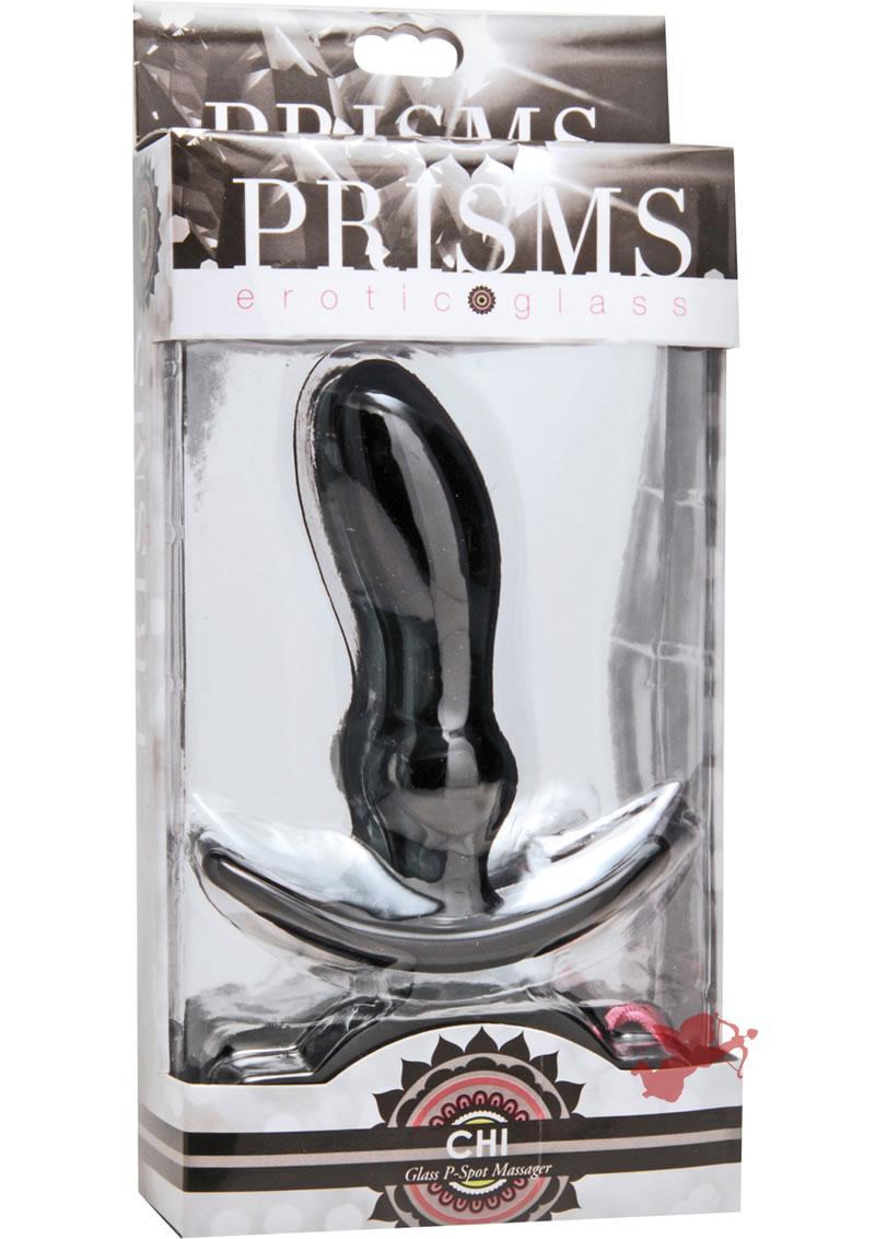 Prisms Chi Glass P-spot Massager Green 4.5 Inch