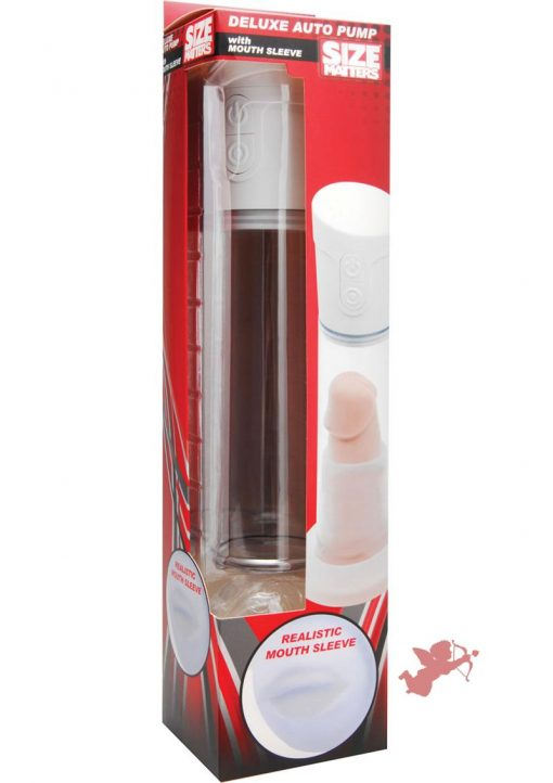 Size Matters Deluxe Auto Penis Pump And Mouth Sleeve 11.25 Inch