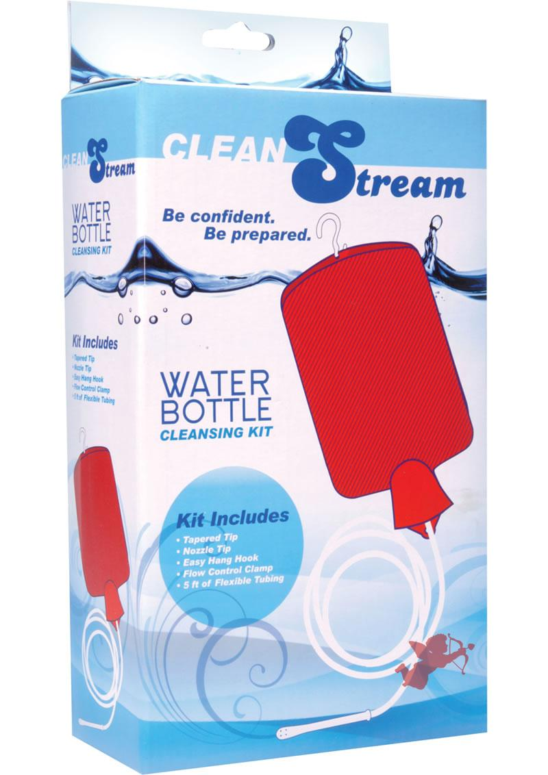 Clean Stream Water Bottle Cleansing Kit Red 2Qt