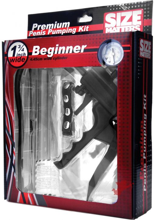 Size Matters Beginner Penis Pump Kit 1.75 Inch Wide