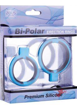 Zeus Bi Polar Silicone Erection Rings Blue