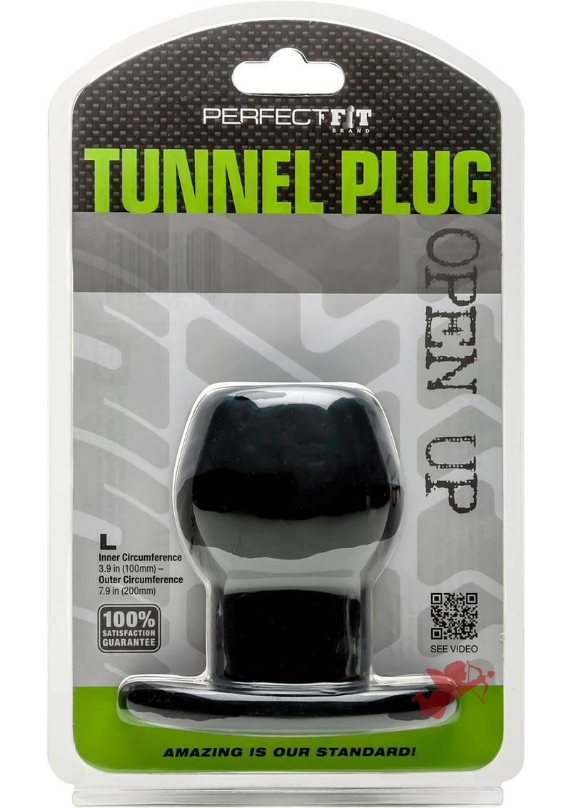 Perfect Fit Tunnel Plug Black Large