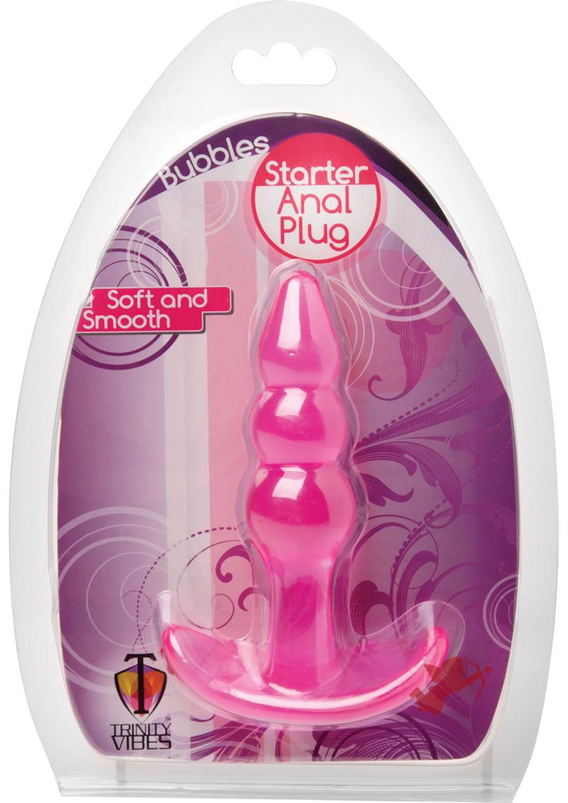 Trinity Vibes Bubbles Starter Anal Plug Pink 4.25 Inch