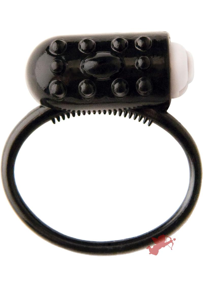 Trinity Vibes Vibrating Cock Ring Black