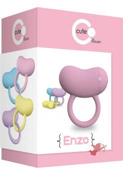Cute Enzo Silicone Couples Ring Waterproof Pink