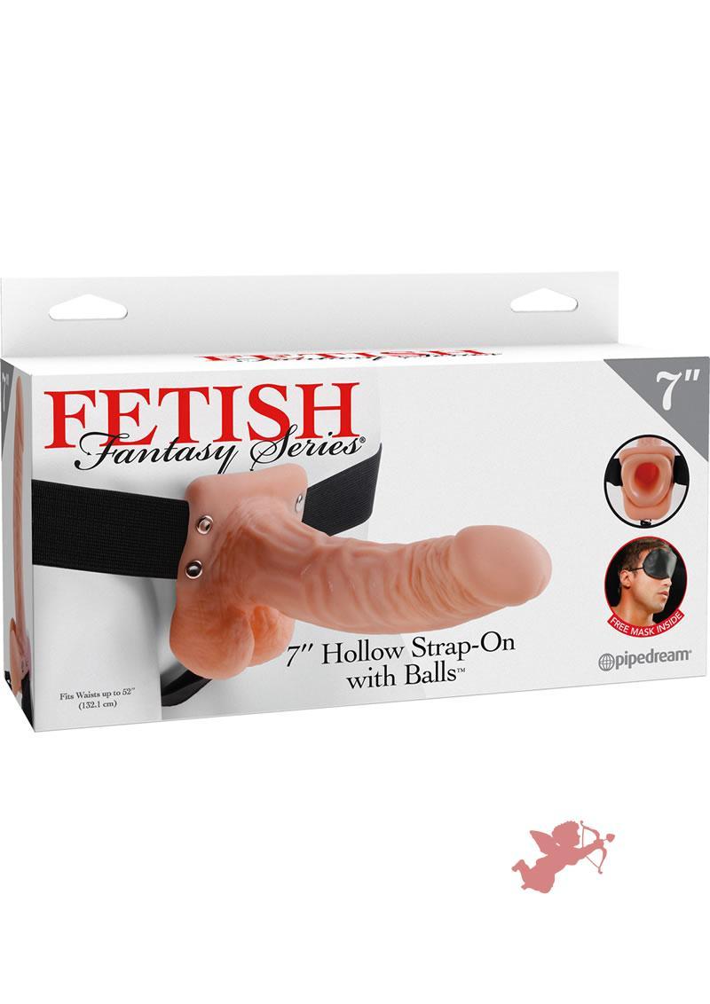 Fetish Fantasy 7 Inch Hollow Strap On With Balls Flesh