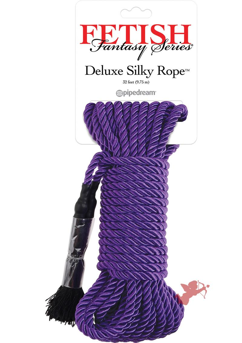 Festish Fantasy Deluxe Silk Rope Purple 32 Feet