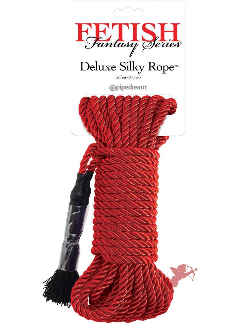Festish Fantasy Deluxe Silk Rope Red 32 Feet