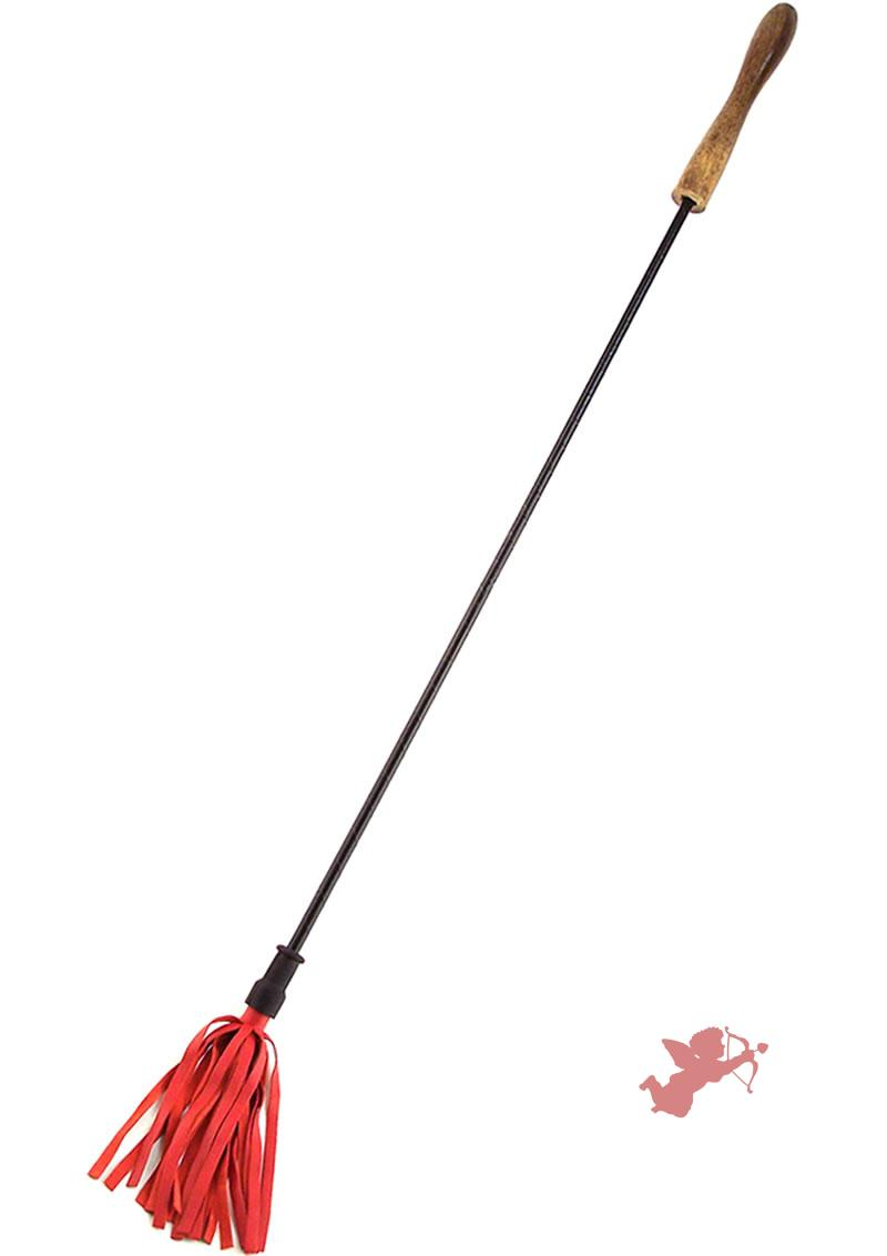 Rouge Wood Handle Riding Crop Red