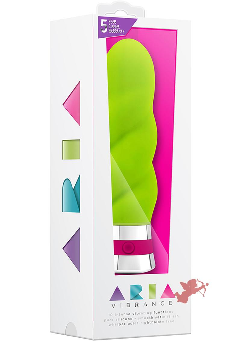 Aria Vibrance Silicone Vibe Waterproof Green