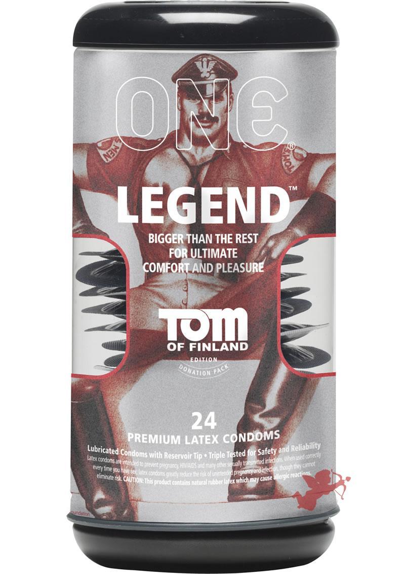 Tom Of Findland One Legend Premium Latex Condoms 24 Each Per Pack