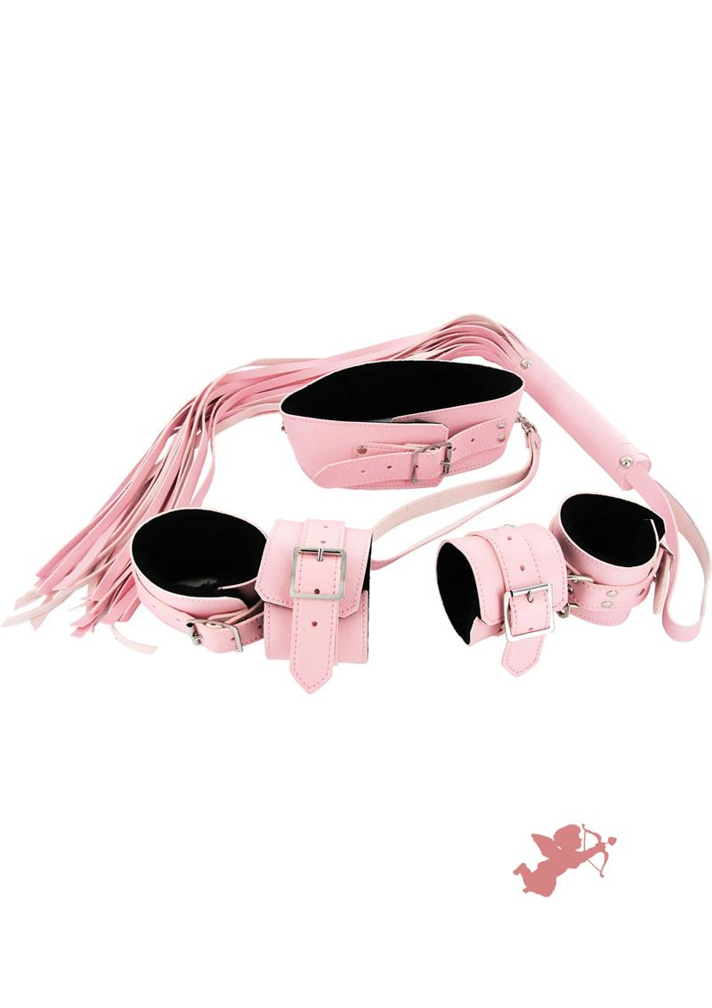 Leather Pink Bondage Set