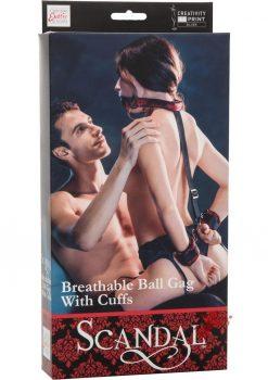 Scandal Bretable Ball Gag W/cuffs