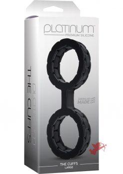 Platinum Premium Silicone The Cuffs Black Large